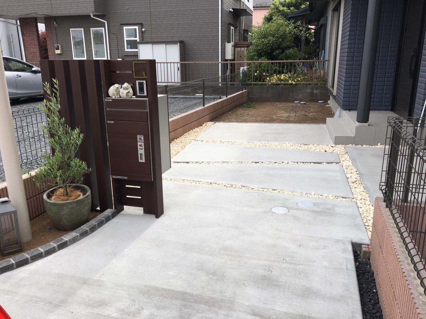 新築外構工事 土間コンクリート